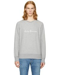 Rag & Bone - Grey 'quality Guaranteed' Sweatshirt - Lyst