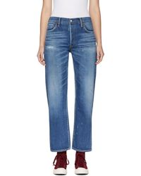 Visvim - Blue Social Sculpture W03 Jeans - Lyst