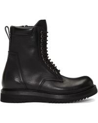 Rick Owens - Black Low Army Classic Creeper Boots - Lyst