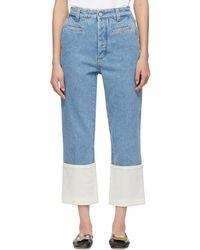 Loewe - Indigo Fisherman Stone Washed Jeans - Lyst
