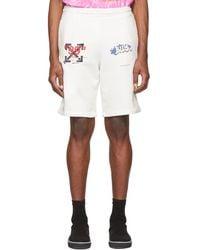 56d6f51cbc66 Lyst - Off-White c o Virgil Abloh Marble Printed Techno Mesh Shorts ...