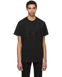 Givenchy | Black Perforated Logo T-shirt | Lyst