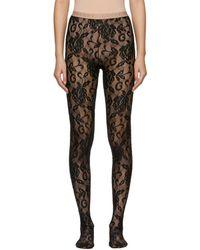 Gucci - Black Lace Tights - Lyst