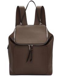 Loewe - Taupe Goya Backpack - Lyst