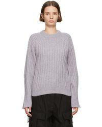 3.1 Phillip Lim - Purple Lofty Rib Crewneck Sweater - Lyst