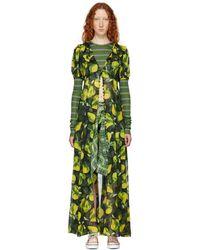Marc Jacobs - Green Redux Grunge Button-down Dress - Lyst