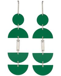 Isabel Marant - Green And Silver Seriously Earrings - Lyst