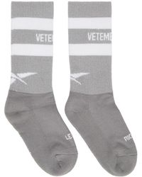 Vetements - Grey Reebok Edition Reflective Socks - Lyst