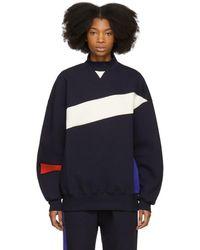 ADER error - Navy Colorblock Mock Neck Sweatshirt - Lyst