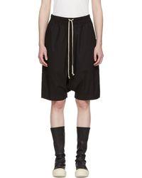 Rick Owens Drkshdw - Black Pod Knee-length Shorts - Lyst