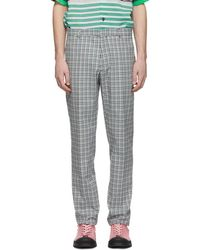 JOSEPH - White And Blue Bowling Check Ernest Trousers - Lyst