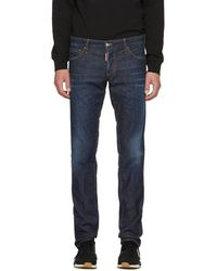 DSquared² - Blue Done Deal Slim Jeans - Lyst