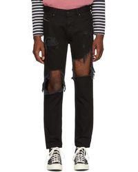 DIESEL - Black Distressed Mharky Jeans - Lyst