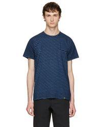 Rag & Bone - Indigo Striped James T-shirt - Lyst