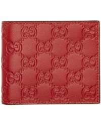Gucci - Red Signature Wallet - Lyst