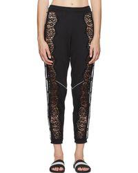 Stella McCartney - Black Adidas Edition Lace Lounge Pants - Lyst