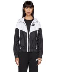 Nike - Black And White Windrunner Jacket - Lyst