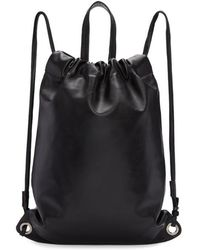Robert Clergerie - Black Leather Sporty Backpack - Lyst