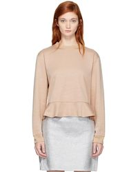 Carven - Pink Ruffled Sweatshirt - Lyst