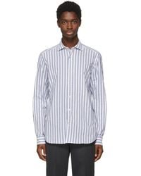 Missoni - White And Blue Striped Shirt - Lyst