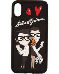 Dolce & Gabbana - Black Family Designer Rubber Iphone X Case - Lyst