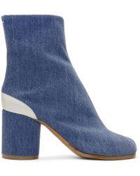 Maison Margiela - Blue Denim Tabi Boots - Lyst