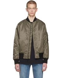 Rag & Bone - Brown Manston Bomber Jacket - Lyst