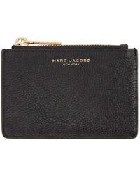 Marc Jacobs - Black Top Zip Card Holder - Lyst
