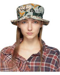 R13 - Blue Floral Bucket Hat - Lyst