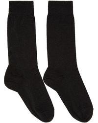 Isabel Marant - Black Lurex Mileya Socks - Lyst
