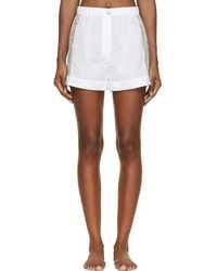 Raphaëlla Riboud - White Cotton & Lace Fred Shorts - Lyst