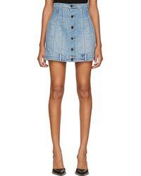 Alexander Wang - Blue Seamed Denim Miniskirt - Lyst