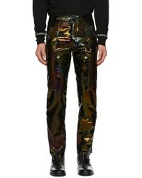 Givenchy Black Iridescent Leather Pants