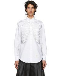 Thom Browne - White Skeleton Point Collar Shirt - Lyst
