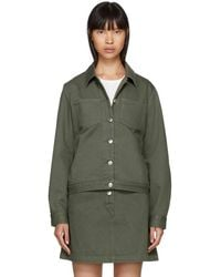 A.P.C. - Khaki Denim Juliette Jacket - Lyst