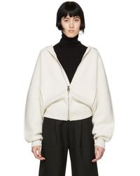 Chloé - White Cashmere Knit Chunky Hoodie - Lyst
