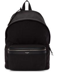 Saint Laurent - Black Canvas City Backpack - Lyst