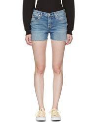 AMO - Blue Denim Tomboy Shorts - Lyst