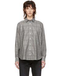 Totême  - Grey Check Capri Shirt - Lyst