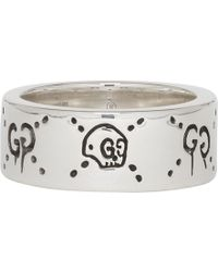 Gucci - Silver Ghost Ring - Lyst
