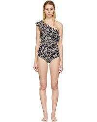 Étoile Isabel Marant | Black Sicilya Single-shoulder Swimsuit | Lyst