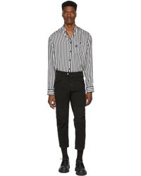 Neil Barrett - Black Bike Jeans - Lyst