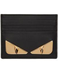 Fendi - Black And Gold Bag Bugs Card Holder - Lyst