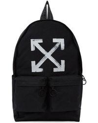 Off-White c/o Virgil Abloh | Black Brushed Arrows Backpack | Lyst
