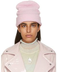 Acne Studios - Pink Wool And Cashmere Beanie - Lyst ec8ca5a8c72b