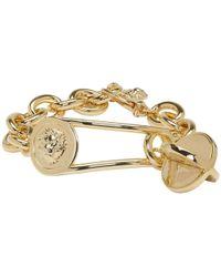 Versus  | Gold Lion Medallion Bracelet | Lyst