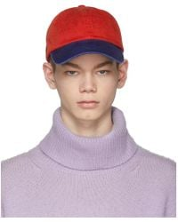 Acne Studios - Red And Blue Carli Face Cap - Lyst