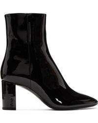 Saint Laurent - Black Patent Loulou Boots - Lyst