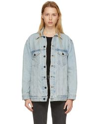 Alexander Wang - Blue Oversized Daze Denim Jacket - Lyst