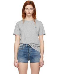 McQ - Grey Swallow Badge T-shirt - Lyst